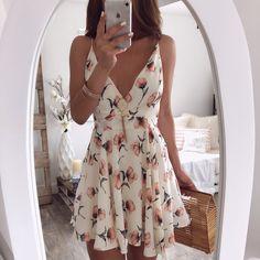 Amy Floral Mini Dress | OHM BOUTIQUE