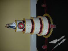 Marine Wedding Cake Really loving this cake(: Marine Wedding Cakes, Marine Corps Wedding, Wedding Pics, Our Wedding, Dream Wedding, Wedding Ideas, Cake Wedding, Wedding Stuff, Military Cake