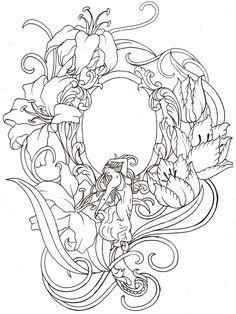 Art Nouveau Hand Mirror, by ~Metacharis