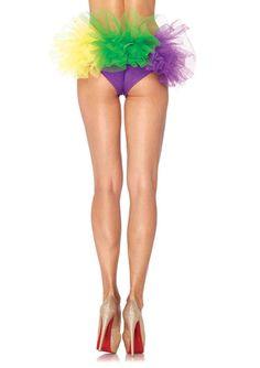 65786df1b New Leg Avenue A2018 Mardi Gras spandex tanga panty Female Accessory  Costume  LegAvenue  DressShorts
