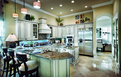 Stunning kitchen with great mix of neutrals and greys (Portland Country Manor - Parkland Golf and Country Club, FL)