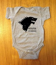 Winter is Coming Onesie   World's Cutest Geeky/Cool Baby Clothes