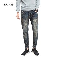 New 2017 Brand Men's Jeans Casual Straight Hole  Men Jeans Men Denim Trousers Biker Jeans Free Shipping #Affiliate