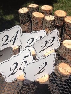 20 Large Pine Table Number Holders