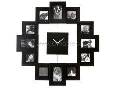 Zegar ścienny PT Family Time z 12 ramkami na zdjęcia czarny  http://www.citihome.pl/zegar-scienny-pt-family-time-z-12-ramkami-na-zdjecia-czarny.html