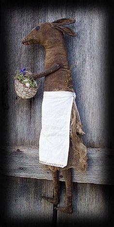 PatternMart.com ::. PatternMart: Mrs Clover Rabbit Gathering Eggs