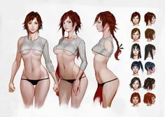 Image result for semi realistic anime female head modeling reference