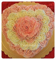 A double shaded rosette cake.