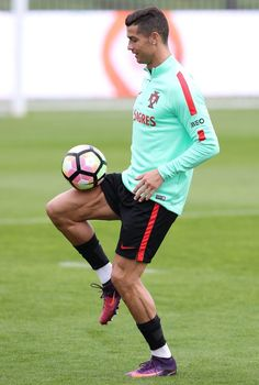 Portugal's forward Cristiano Ronaldo during Portugals Training Session
