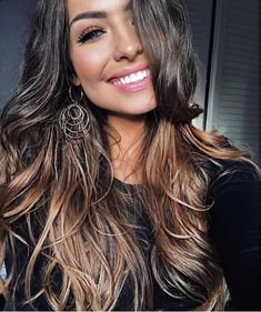 #Beautifullonghair, #danglyearrings, #ombre, #balayage, #accessories, #whiteteeth
