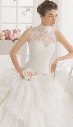 Dive into the newest Aire Barcelona Wedding Dresses. This 2016 bridal collection is simply divine. Aire Barcelona Wedding Dresses, 2016 Wedding Dresses, Bridal Dresses, Wedding Gowns, Dresses Elegant, Beautiful Dresses, Wedding Dress Accessories, Bridal Collection, Wedding Bride