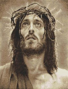 Jesus Christ Son of God Counted Cross Stitch Kit 10 5 x 13 5 <3 I want one!!!