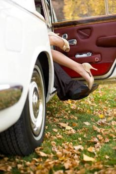 Outstanding Wedding Photos of 2012 | Bridal Banter Blog- would be cute with kids sitting/playing outside the car