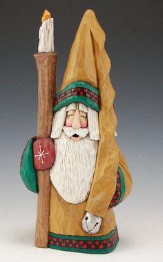 12 inch Lamplilghter Santa  one of my favorite carvers, Dave Francis