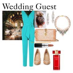 """Wedding Guest Inspiration"" by chiefglammy on Polyvore featuring Shourouk, Ben-Amun, Valentino, Dolce&Gabbana, Estée Lauder and MAC Cosmetics"