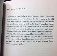 "The Quiet Machine"" by Ada Limón."