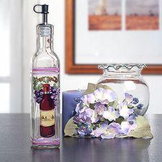 How To Make Decorative Vinegar Bottles Europa Collection Wine Design Large Oil & Vinegar Set  Wine