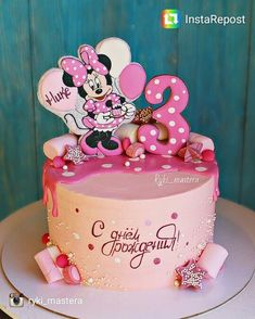 23 New Ideas Cupcakes Fondant Girl Minnie Mouse Mickey And Minnie Cake, Bolo Mickey, Minnie Mouse Birthday Cakes, 3rd Birthday Cakes, Birthday Ideas, Fondant Girl, Fondant Cupcakes, Fun Cupcakes, Cupcake Cakes
