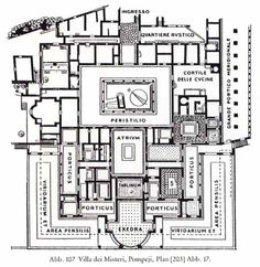 РИМ_Villa of the Mysteries, Pompeii phase 2 Architecture Concept Diagram, Roman Architecture, Ancient Architecture, Roman Reigns House, Ancient Roman Houses, Ancient Rome, Ancient History, Roman Bath House, House Plans With Pictures