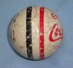 "Nice Vintage Coca Cola Rubber Ball * ""It's the real thing"" Circa 1970"