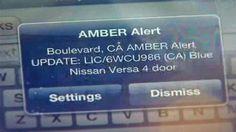 Last week, I was woken up by an absurd sound that I had never heard before coming from my phone. What appeared on my screen was an AMBER alert issued by Invisible Children, Nissan Versa, Amber Alert, Blog, Blogging