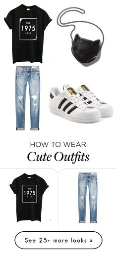 """""""cute outfit for mall"""" by hanaa0402 on Polyvore featuring rag & bone, STELLA McCARTNEY and adidas Originals"""