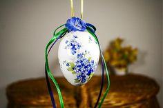 handloved / Easter egg / Veľkonočné vajíčko - nezábudkové