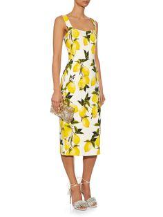 Lemon-print crepe dress | Dolce & Gabbana | MATCHESFASHION.COM