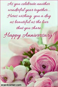 Enjoy Your Special Day Happy Anniversary Card Pink And