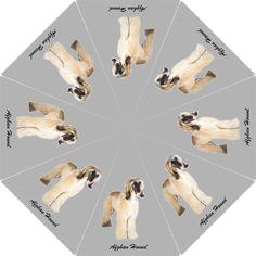 AFGHAN HOUND UMBRELLA Foldable Tazi Dog Lovers Stuff Loss Memorial Gifts Idea