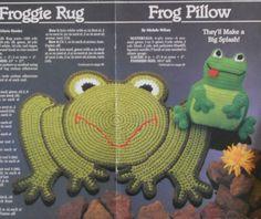 Free Crochet Rug Patterns | FROGGIE PILLOW Frog Rug CROCHET Pattern by M2Hawk on Etsy