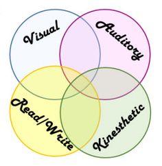 Visual, Auditory, Kinesthetic,Read Write