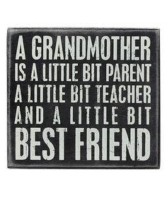 Look at this #zulilyfind! 'Grandmother' Box Sign #zulilyfinds