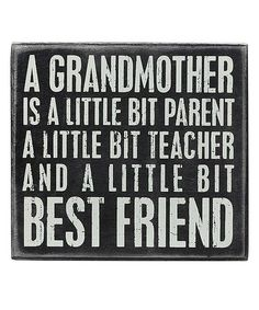 Look at this #zulilyfind! 'Grandmother' Box Sign by Primitives by Kathy #zulilyfinds