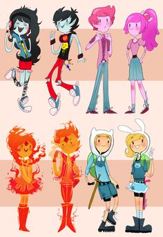 His & Hers  [Maceline/Marshal Lee]  [Prince/Princess Bubblegum]  [Flame Princess/Prince]  [Finn/Fionna]