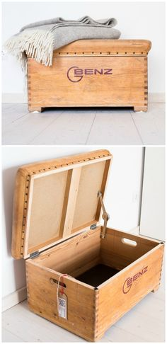 Absolute eye-catcher for the home of every sports fan: chest from a turnkas … - DIY Ideas