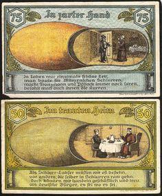 Notgeld Pommern Labes 50+75 pfennig 1921