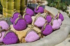 Tutorial Mini Monederos con boquilla crochet