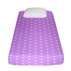 White Polka Dot Pastel Purple Background, pink color vintage dotted pattern Fitted Sheet (Single Size) Pastel Purple, Pink Color, Purple Backgrounds, Bed Sizes, Creative Design, Duvet Covers, Bedding, Polka Dots, Outdoor Blanket