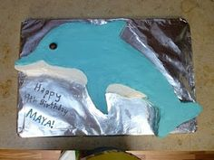 Easiest dolphin cake I've seen...if you can get the icing color right!
