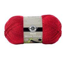 Loops & Threads Woolike Yarn, Red, 678 yds, Size Super Fine 1, 3.5 oz, 100 g, 85% acrylic, 15% nylon