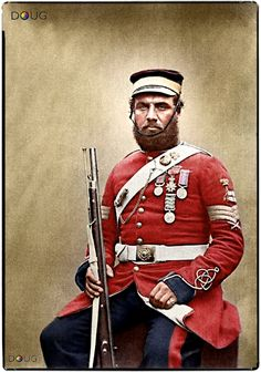 Colour Sergeant Joseph John Stanton (Regt. Nº681) Royal Sappers and Miners at Aldershot in July 1856. He wears the Distinguished Conduct Medal. The Crimea Medal 1854-56 with three clasps for Balaklava, Inkermann and Sebastopol. The Turkish Crimea Medal and The French Legion of Honour.