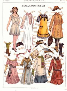 French teenage fashions c. 1908-1910s* 1500 free paper dolls at artist Arielle Gabriel's The International Paper Doll Society also free China and Japan paper dolls at The China Adventures of Arielle Gabriel for my Pinterest pals *
