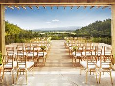 Ceremony Deck - deck will have no floral garlanding, and definitely lesser chairs for the small group