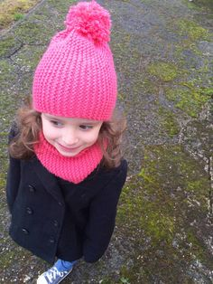snood et bonnet au point mousse 1