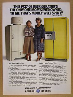 1979 GE General Electric Monitor Top & Side-by-Side Refrigerators vintage Ad | eBay
