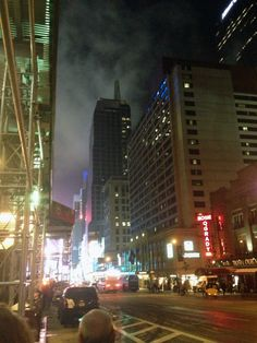 An angry New York City's Sky vs. the Lights of Times Square
