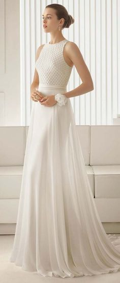 Simple bridal dress 2017