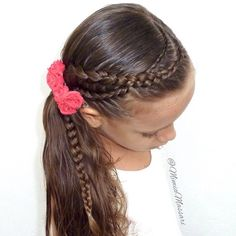 1,765 отметок «Нравится», 33 комментариев — Braids & Hairstyles (@mimiamassari) в Instagram: «Lace Dutch Braids into a Side Pony Inspired byShelley @prettylittlebraids  #trança #trenza…»
