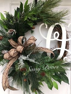 A personal favorite from my Etsy shop https://www.etsy.com/listing/564952771/winter-wreath-snow-wreath-monogram